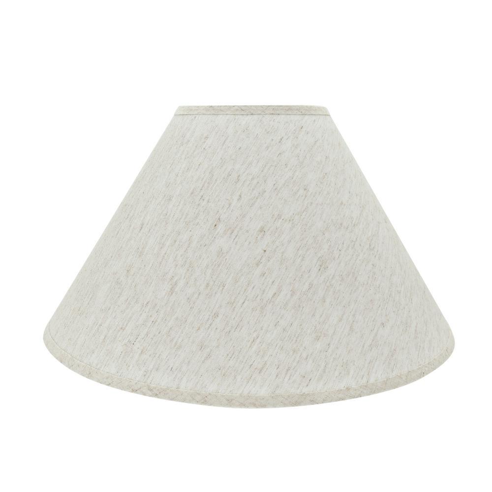 20 in. x 12.5 in. Beige Hardback Empire Lamp Shade