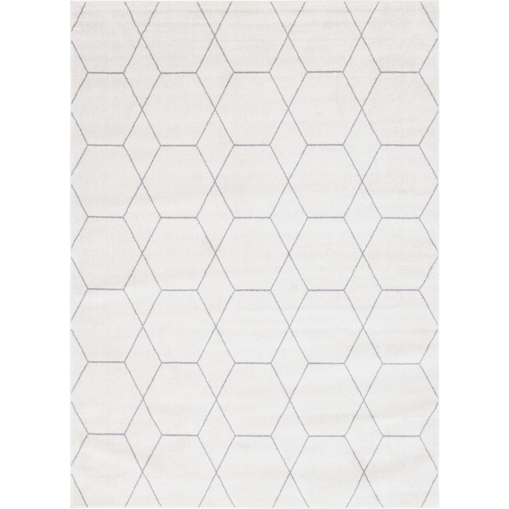 Trellis Frieze Ivory/Gray 8 ft. x 11 ft. Geometric Area Rug
