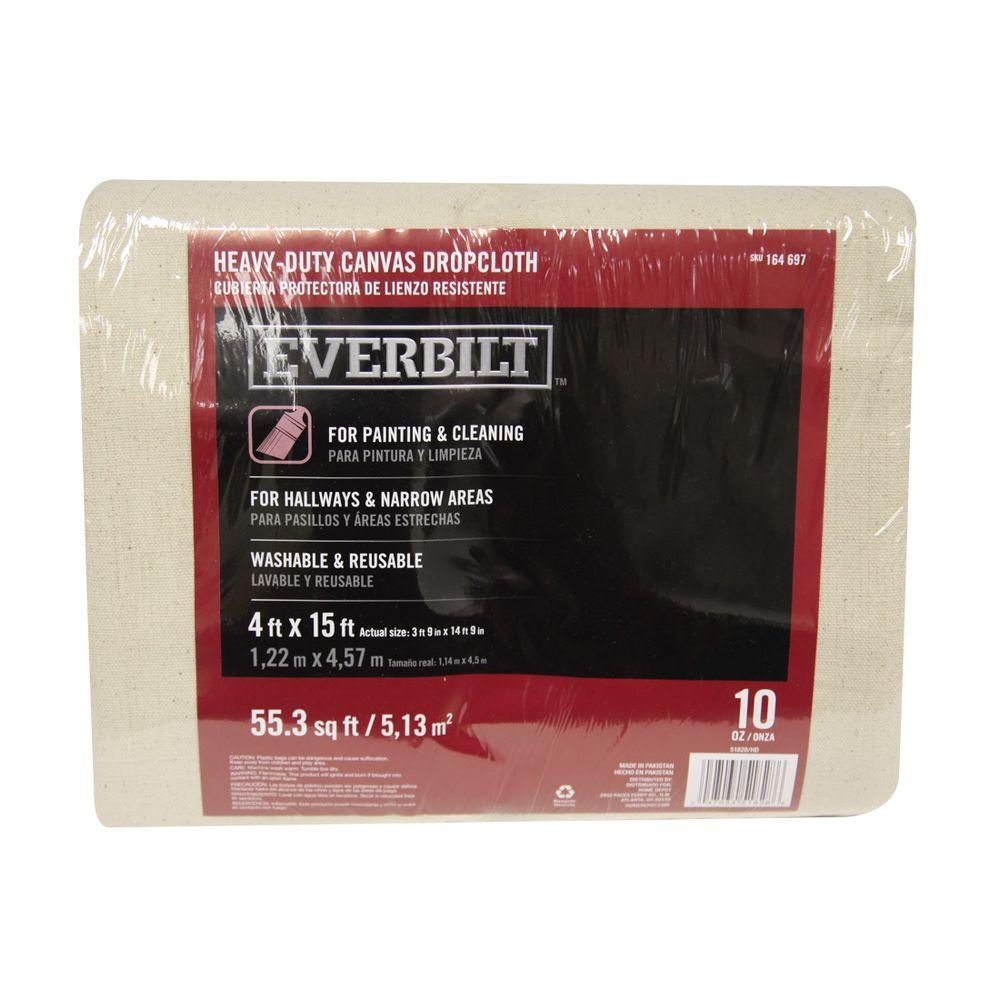 Everbilt 4 ft. x 15 ft. 10 oz. Canvas Drop Cloth