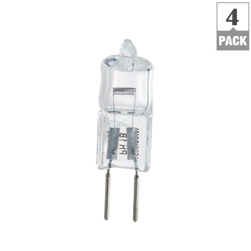 philips 50 watt t4 halogen 12 volt capsule dimmable light bulb 4 pack 417105 the home. Black Bedroom Furniture Sets. Home Design Ideas