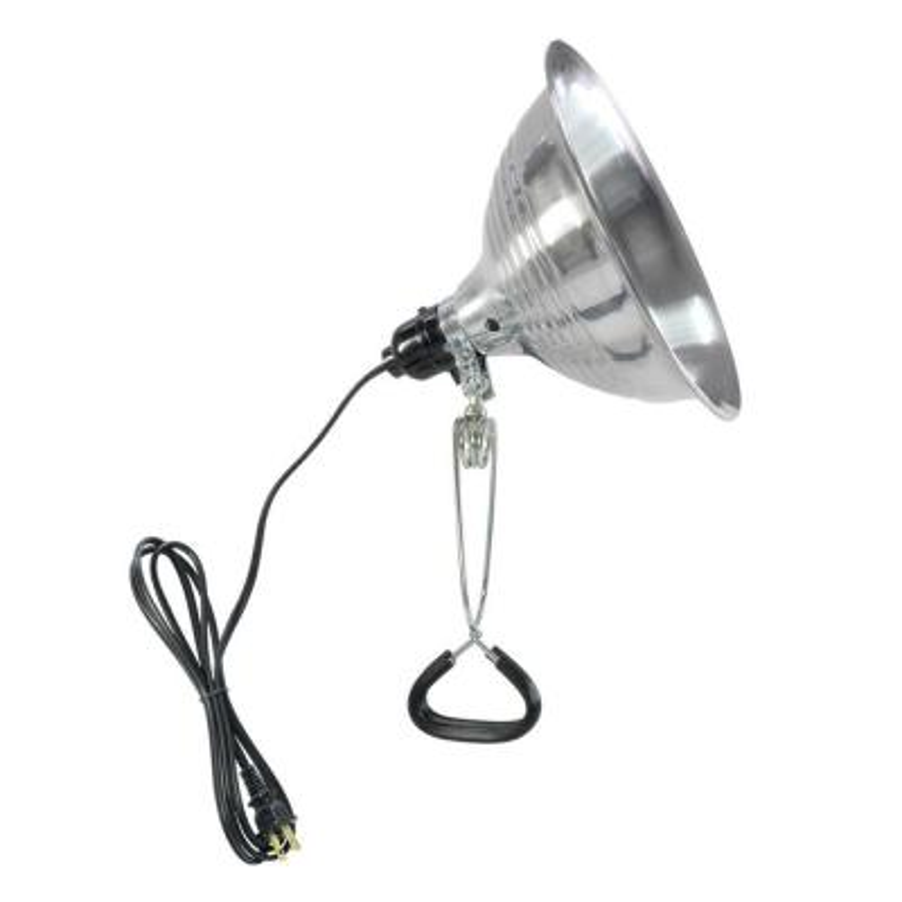 8-1/2 in. 150-Watt Aluminum Incandescent Light Fixture with Clamp