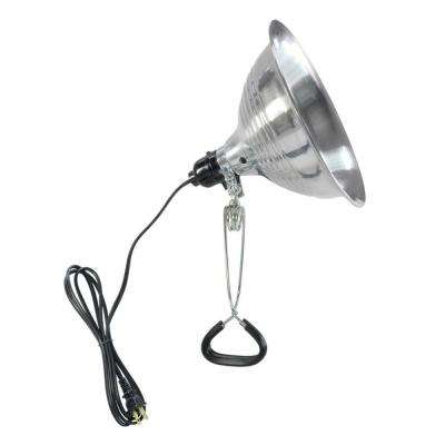 8-1/2 in. 150-Watt Aluminum Incandescent Light Fixture with Clamp