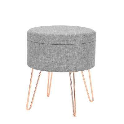 Hattie Gray Small Round Storage Stool