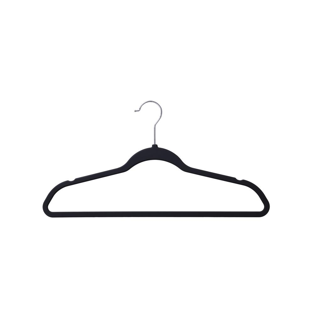 Black Non Slip Rubber Coated Suit Hanger(50 Pack)