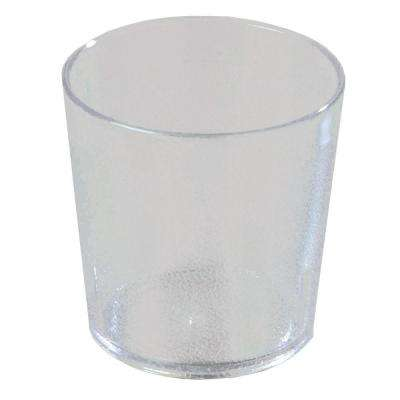 9 oz. SAN Plastic Stackable Old Fashion Tumbler in Clear (Case of 24)