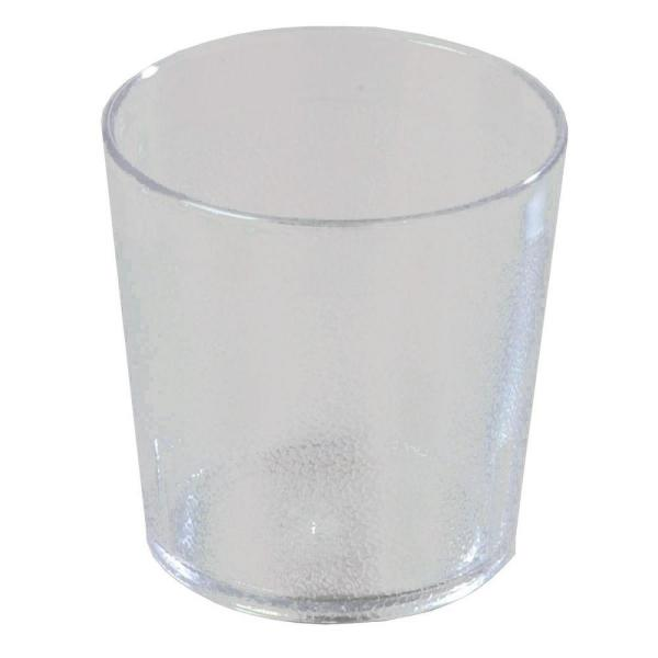 Carlisle 9 oz. SAN Plastic Stackable Old Fashion Tumbler in Clear