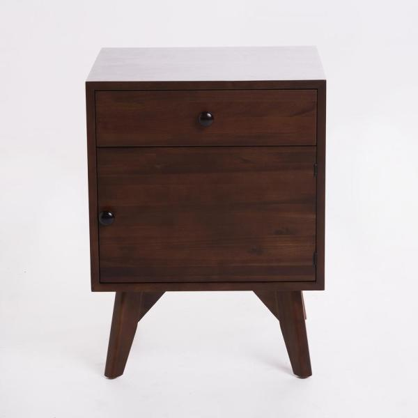 Noble House Walnut Brown Side Cabinet