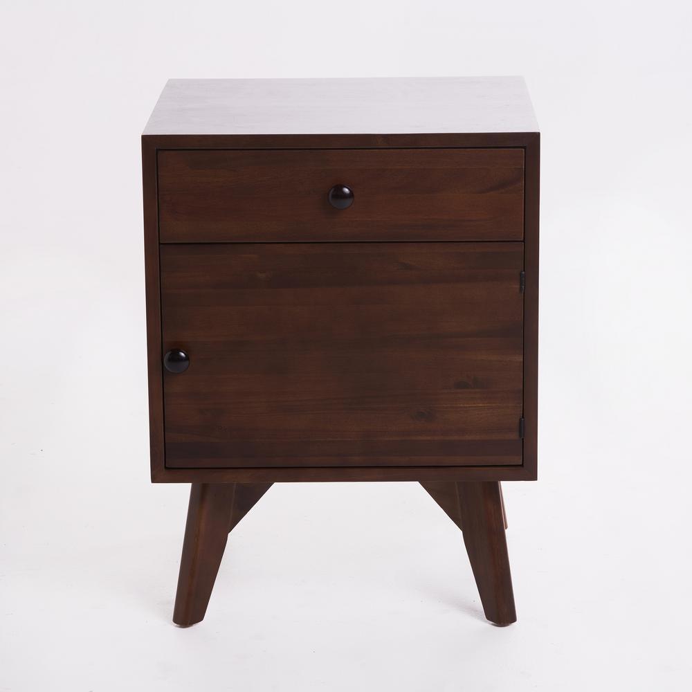 Walnut Brown Side Cabinet