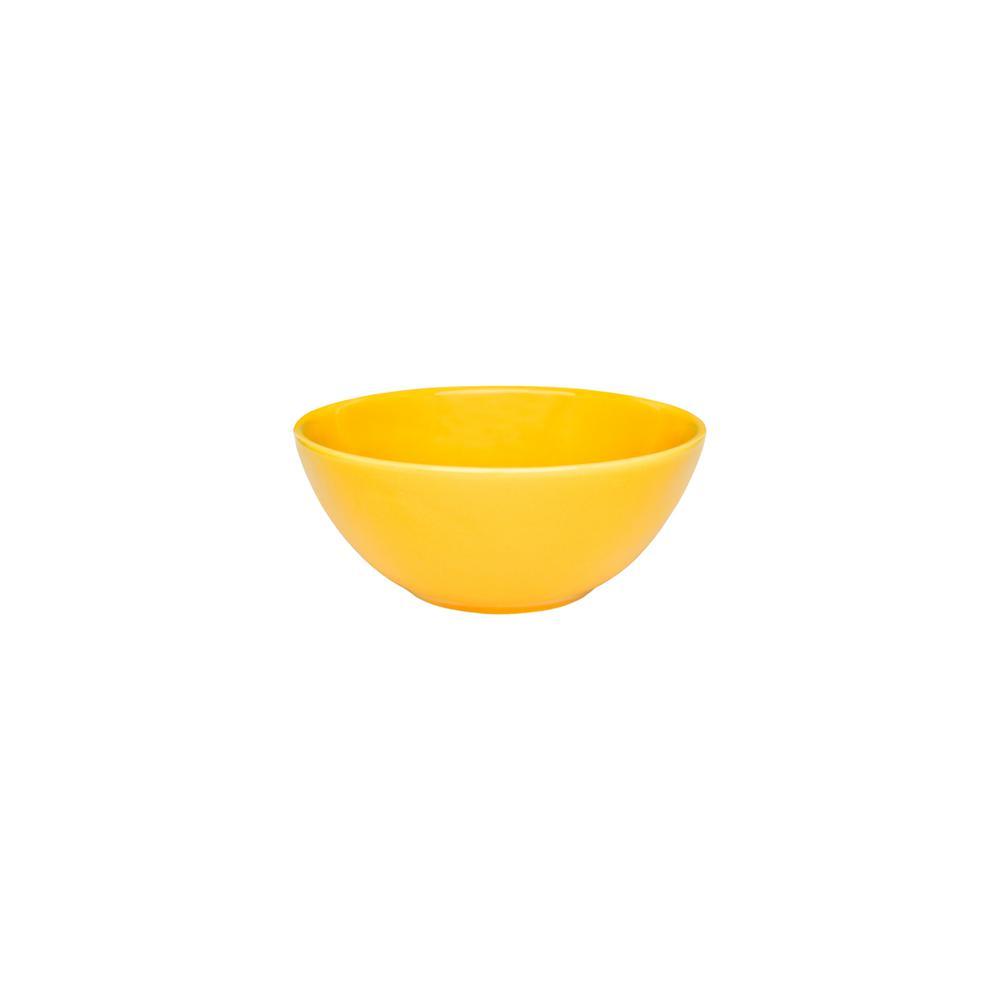 Floreal 29.29 oz. Yellow Earthenware Soup Bowls (Set of 6)