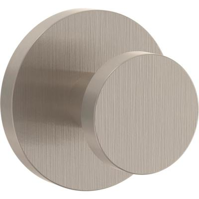 Modern Round 2.75 in. Satin Nickel Post Hook