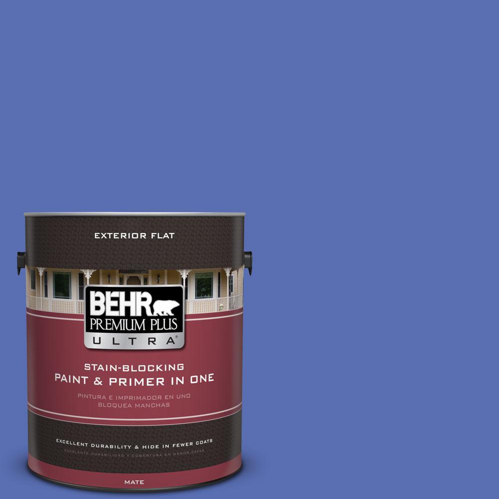 1-Gal. No.PPU15-5 New Age Blue Flat Exterior Paint
