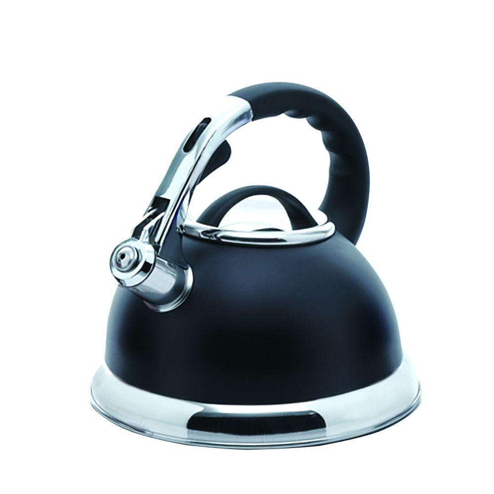 Camille 12-Cup Stovetop Tea Kettle in Black