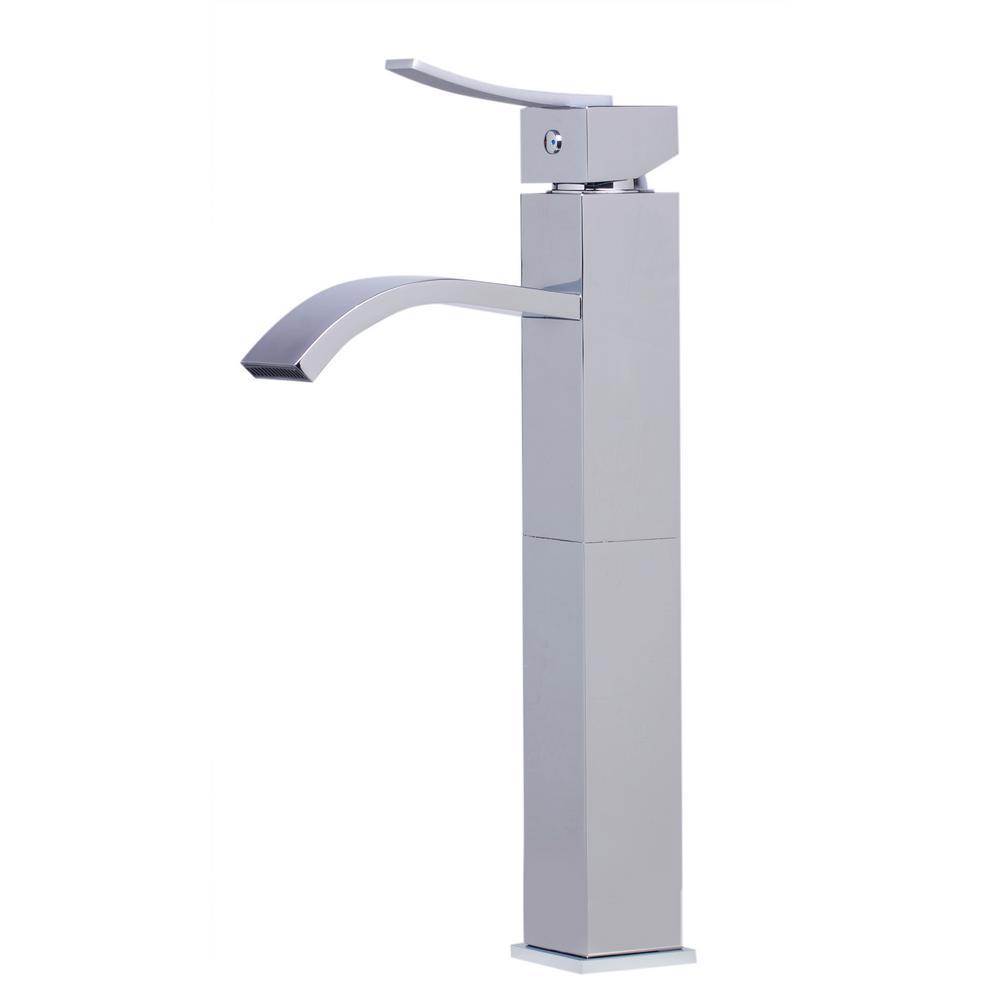 AB1158-PC Single Hole Single-Handle Bathroom Faucet in Polished Chrome
