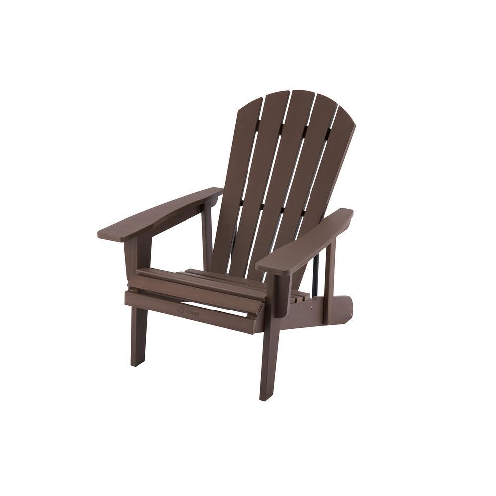 EcoStorage Espresso Brown Reclining Composite Adirondack Chair