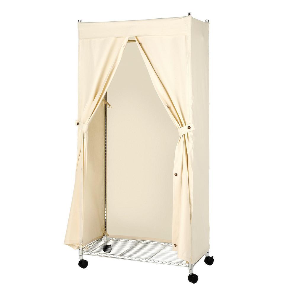 garment rack cover canvas supreme durable 100 cotton 36 in w x 65 5 in h ebay. Black Bedroom Furniture Sets. Home Design Ideas
