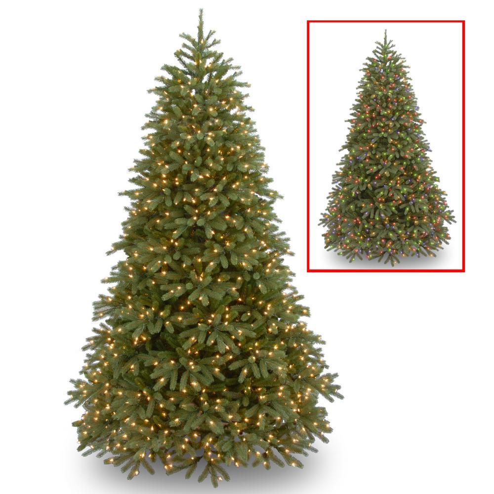 10 ft. Jersey Fraser Fir Medium Tree with Dual Color LED Lights