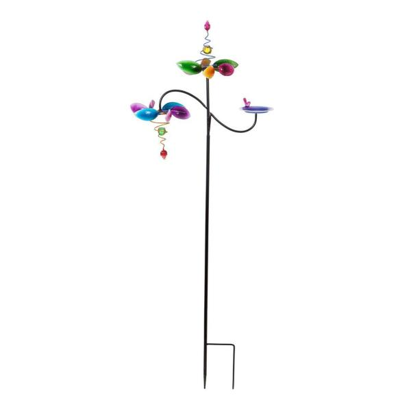73 in. Three-Tiered Multicolor Kinetic Wind Spinner