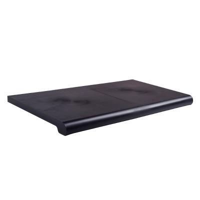 24 in. W x 15 in. D Black Open-Bottom Bullnose Shelf (Pack of 4)