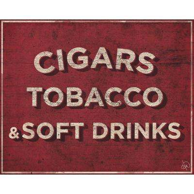 "16 in. x 20 in. ""Cigars Soft Drinks Country Store Sign"" Barnwood Framed Wall Art Print"