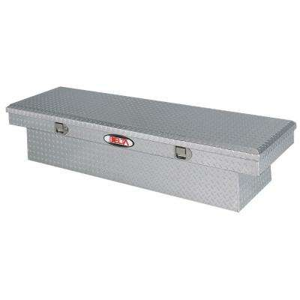 70 in. Aluminum Single Lid Aluminum Full Size Crossover Tool Box in Bright