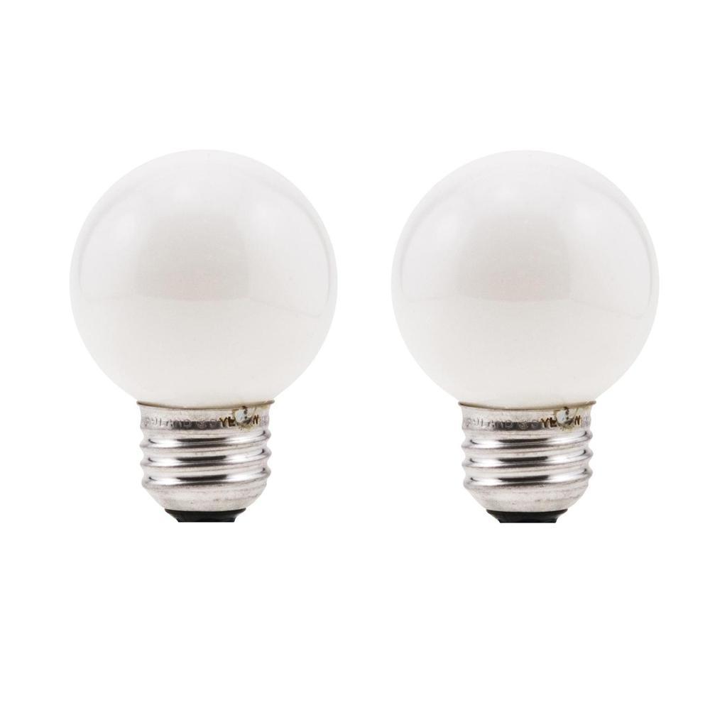 60-Watt Double Life G16.5 Incandescent Light Bulb (2-Pack)