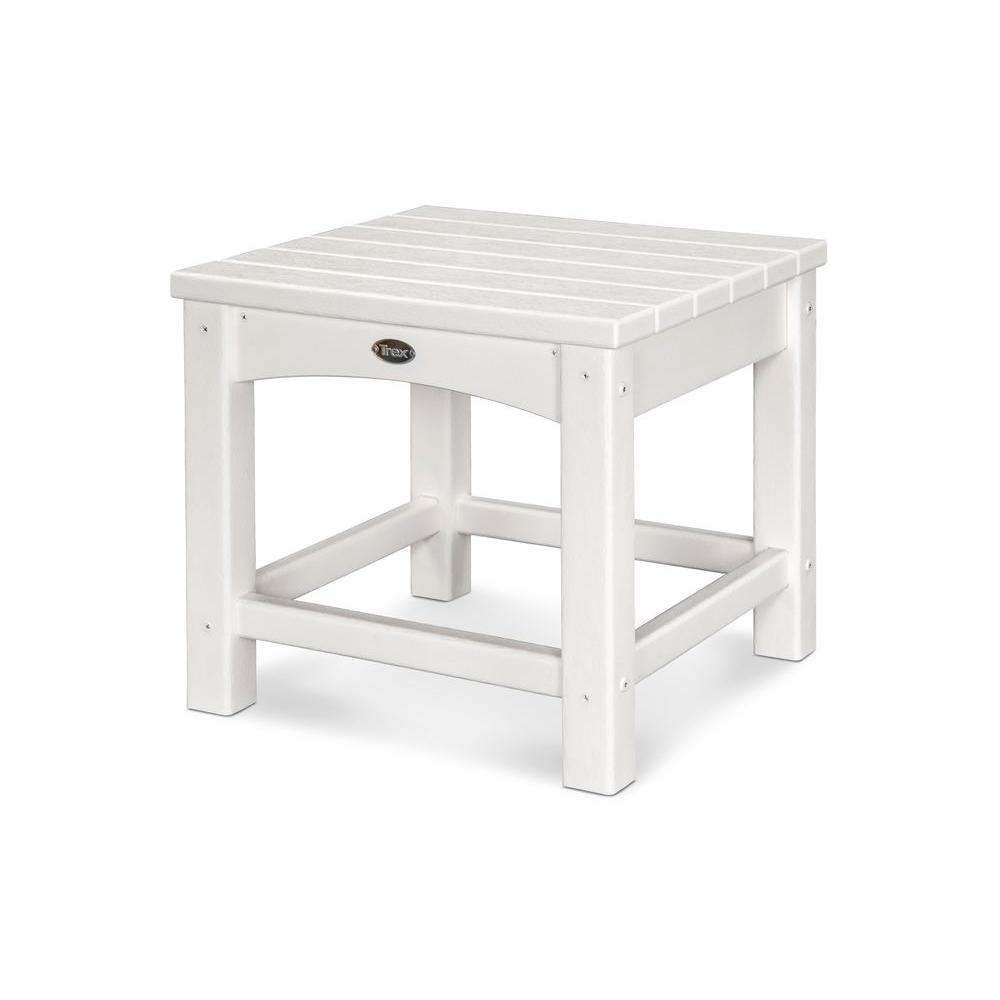 Trex Outdoor Furniture Rockport Classic White Patio Side ...