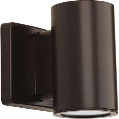 Cylinders Collection 1-Light Antique Bronze Integrated LED Outdoor Wall Mount Cylinder Light