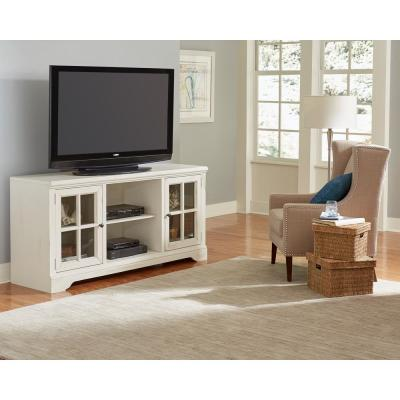 Charleston 66 in. Bone Wood TV Stand Fits TVs Up to 70 in. with Storage Doors