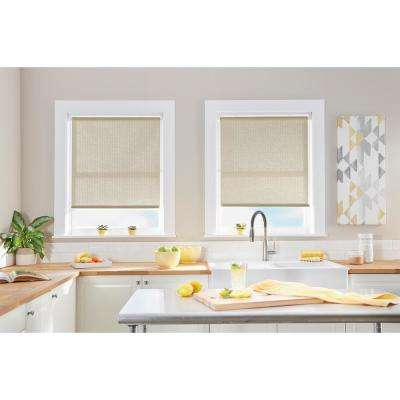 Cut-to-Width Palm Linen Light Filtering Cordless Roller Shade - 39 in. W x 64 in. L (Actual size 39 in. W x 64 in. L)