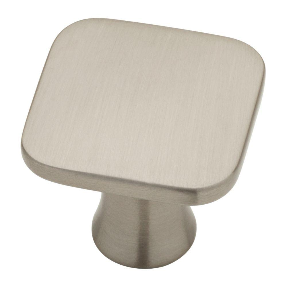 Liberty Lindley 1-1/8 in. (28mm) Satin Nickel Square Cabinet Knob (10-Pack)