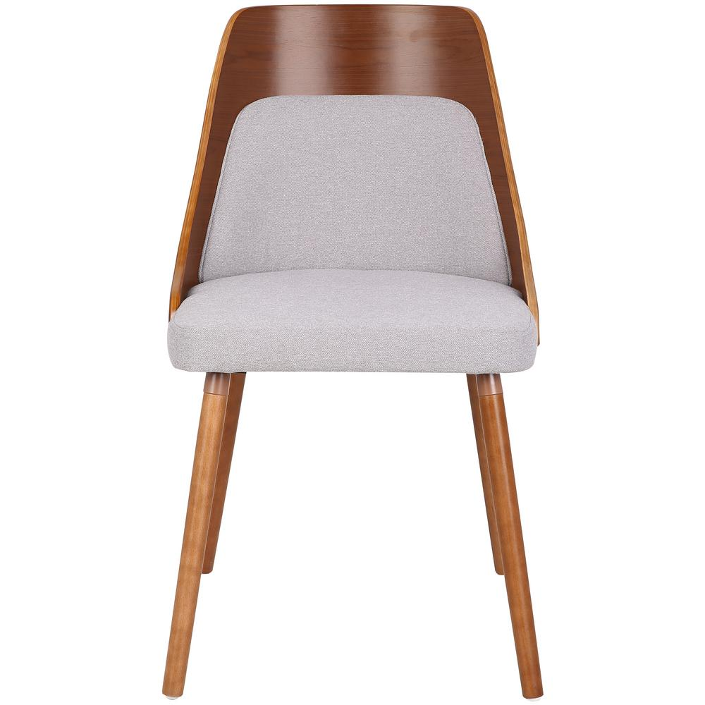 Lumisource Anabelle Mid Century Walnut And Grey Modern Dining Chair