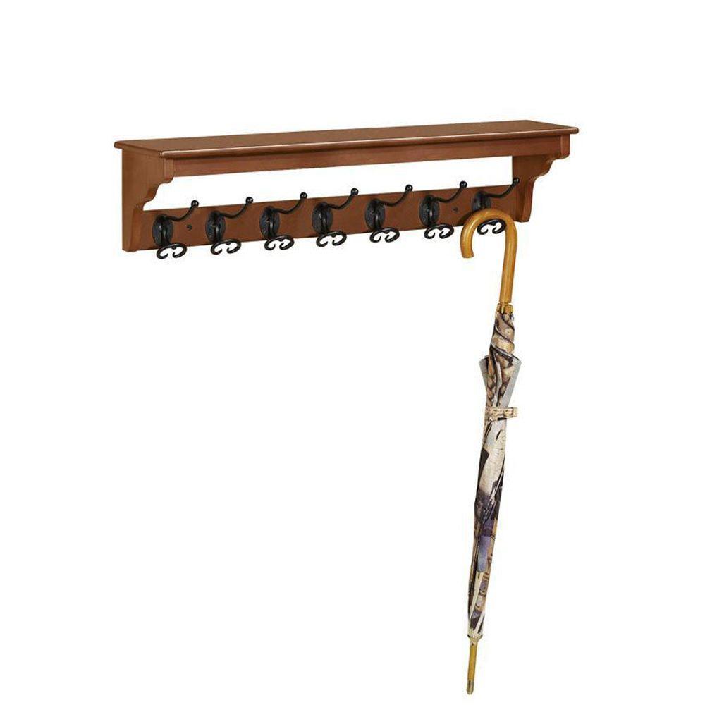 Home Decorators Collection Sonoma 7-Hook Harwick Oak Coat Rack