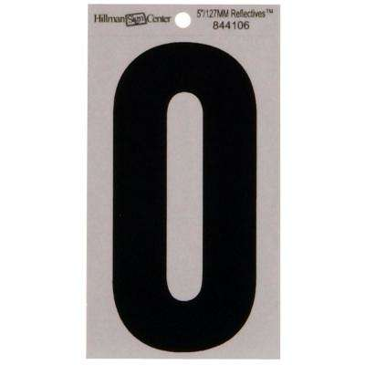 5 in. Mylar Reflective Number 0