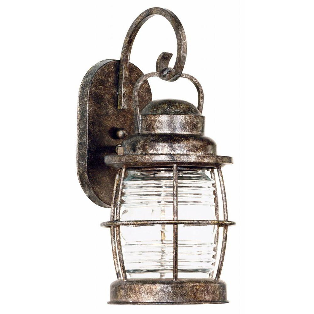 Kenroy Home Beacon Flint Copper and Bronze Outdoor Wall Lantern Sconce