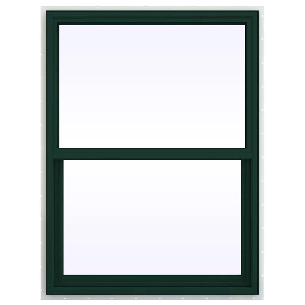 JELD-WEN 35.5 in. x 41.5 in. V-4500 Series Single Hung Vinyl Window - Green