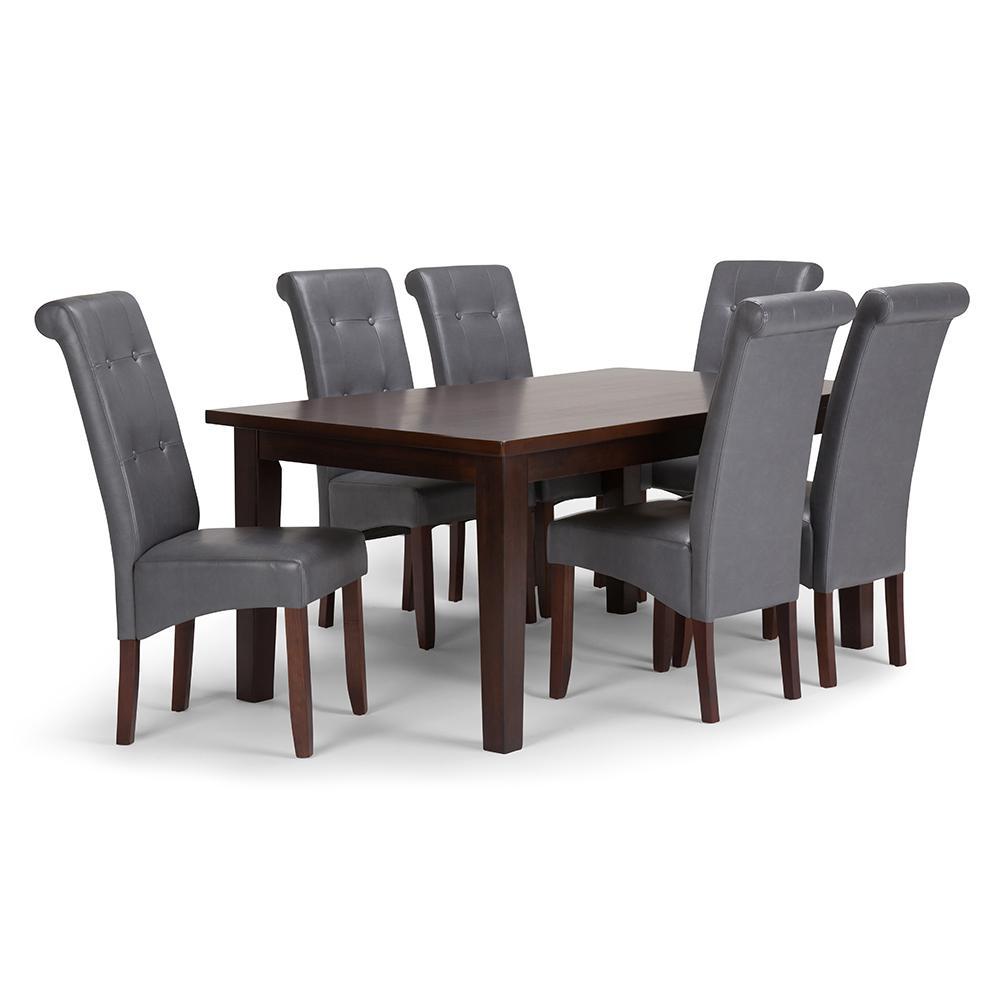 Cosmopolitan 7 Piece Stone Grey Dining Set