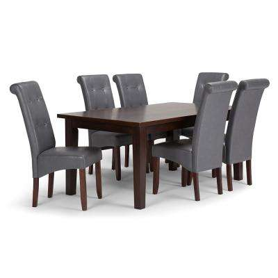 Cosmopolitan 7-Piece Stone Grey Dining Set