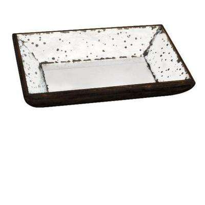 13 in. H x 9 in. W Clear Glass Roberto Tray
