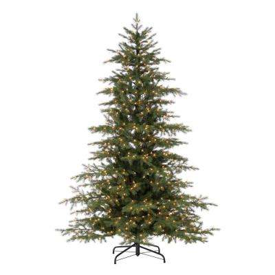 7.5 ft. Pre-Lit Natural Cut Virginia Pine Artificial Christmas Tree with 700 Clear Lights