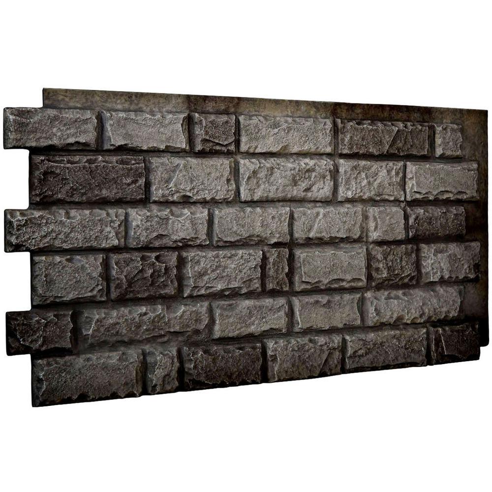 1-1/2 in. x 48 in. x 25 in. Slate Urethane Cut Coarse Random Rock Wall Panel