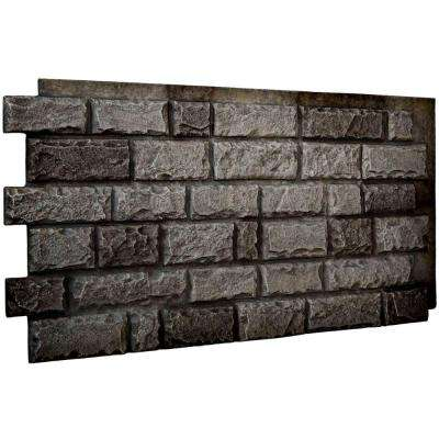 1-1/2 in. x 48 in. x 25 in. Slate Urethane Cut Coarse Random Rock Wall Panel