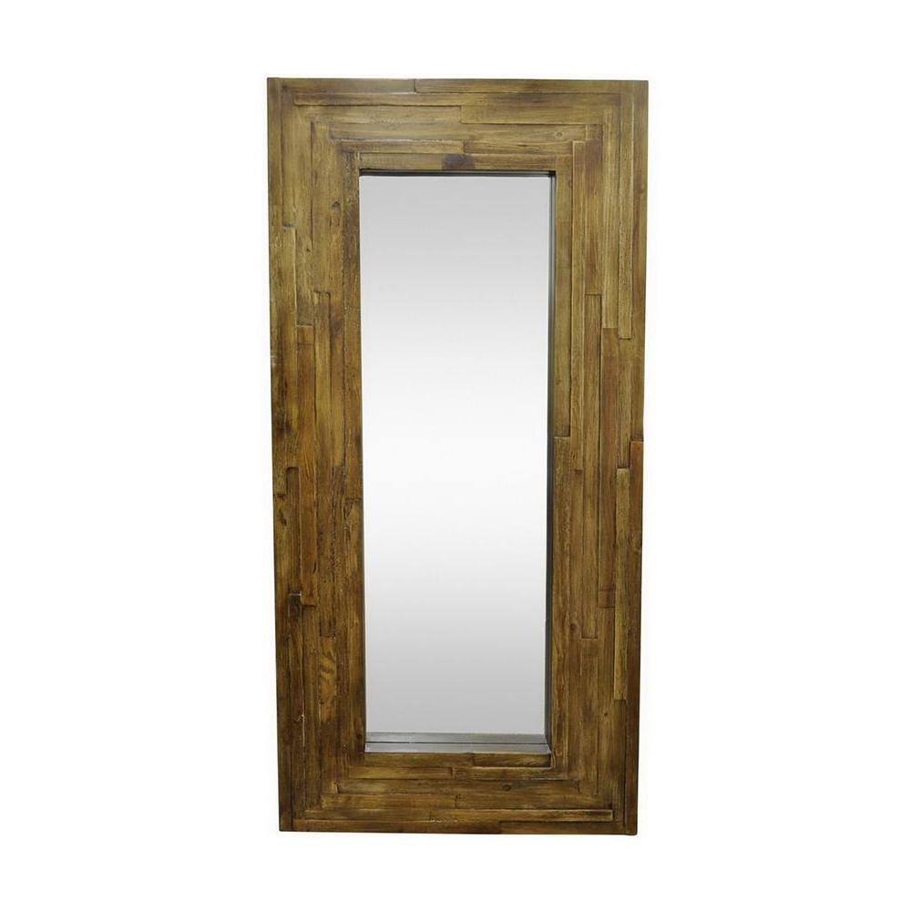 Home decorators collection palmer leaner brown framed wall mirror 9934300950 the home depot Home decorators collection mirrors