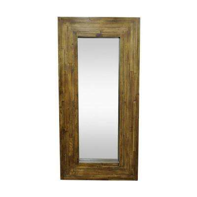 Palmer Leaner Brown Framed Wall Mirror