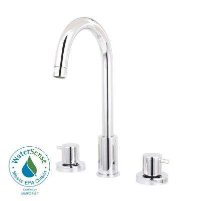Elba 8 in. Widespread 2-Handle High-Arc Bathroom Faucet in Chrome