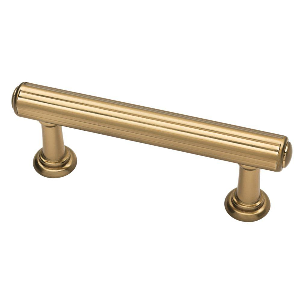 Martha Stewart Living Fluted Classic 3 in. (76mm) Center-to-Center Champagne Bronze Drawer Pull