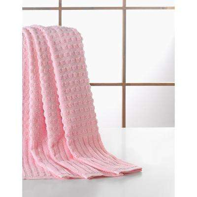 Pure Turkish Cotton Collection 27 in. W x 55 in. H Luxury Bath Towel in Pink