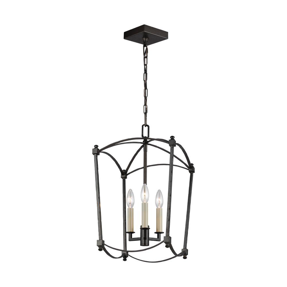 Feiss Thayer 3-Light Smith Steel Chandelier