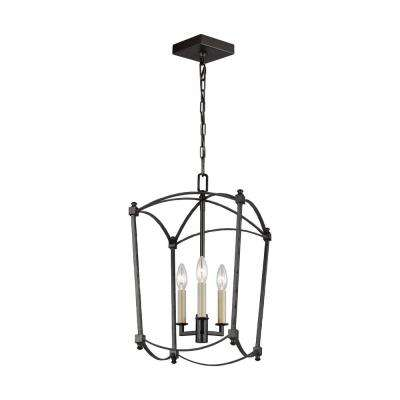 Thayer 3-Light Smith Steel Chandelier