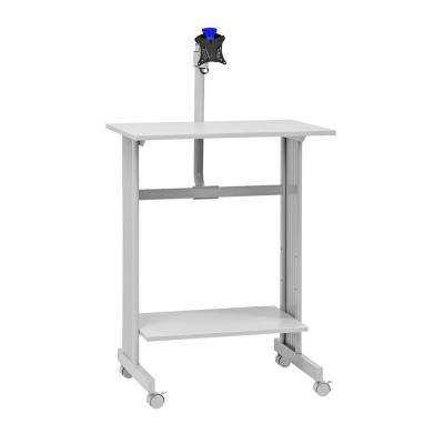 56 in. H x 29 in. W x 20 in. D Grey Stand-Up Height Work Station with LCD Mount Computer Desk