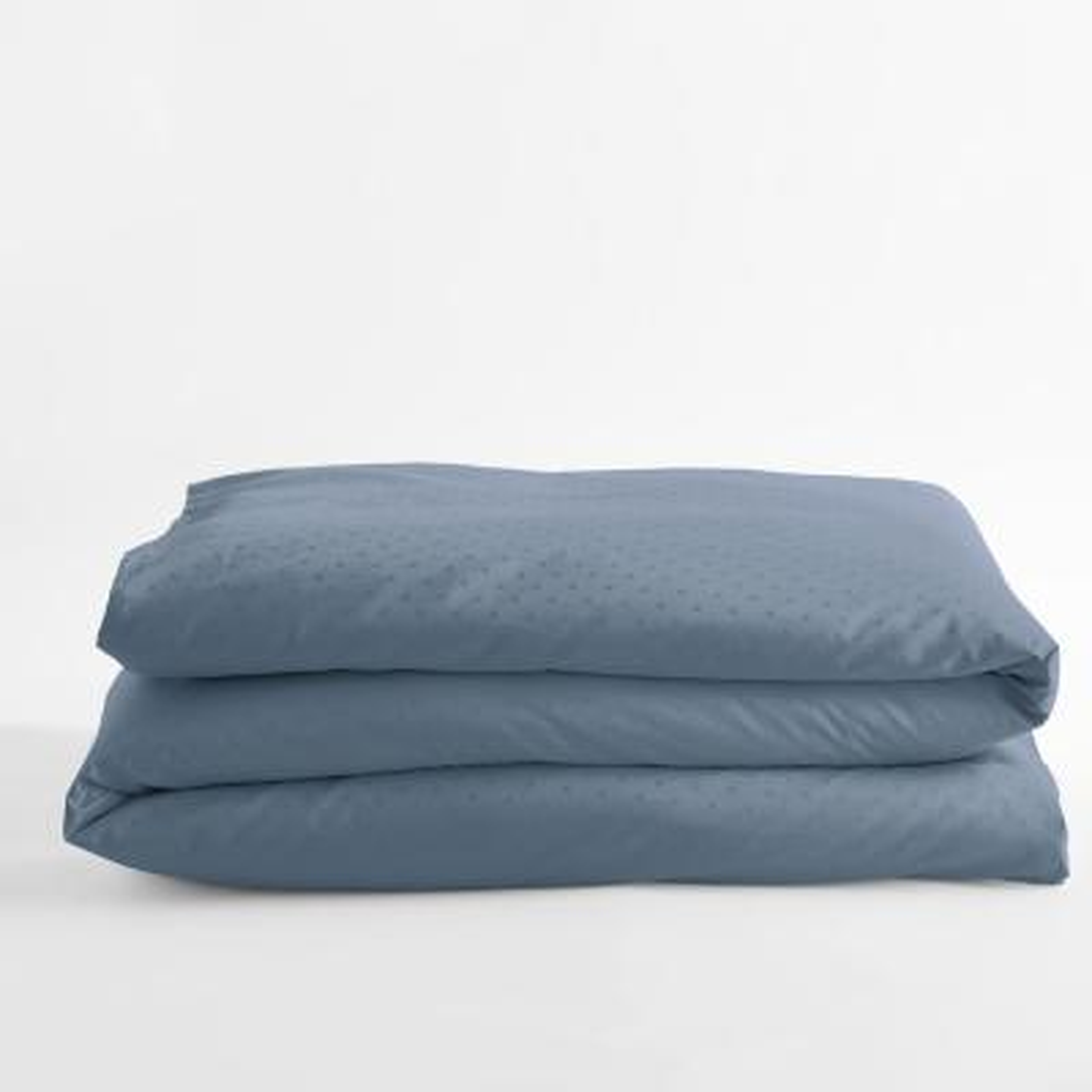 Legends Luxury Dot Mirage Blue Cotton Sateen Oversized King Duvet Cover